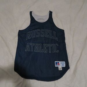 VTG 90s Russell Athletic Intera Spellout Jersey M